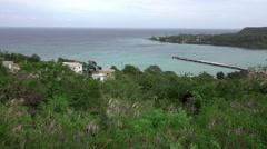 Falmouth Jamaica Caribbean coast bay HD Stock Footage