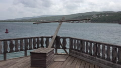 Falmouth Jamaica Caribbean Columbus Park ocean HD Stock Footage