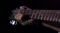 Sequence from a concert disco, where a guitarist shows his mastery Stock Footage