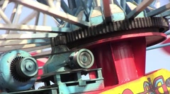 Carousel motor that revolves at a speed of increasingly higher 1 Stock Footage