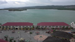 Falmouth Jamaica cruise ship port entry area HD Stock Footage