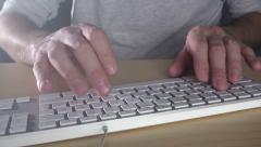 Man typing computer keys Stock Footage
