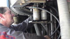 Mechanical repair a car engine that broke down 4 - stock footage