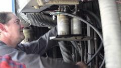 Mechanical repair a car engine that broke down 4 Stock Footage