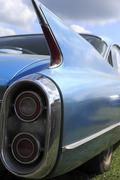 classic car tail fin - stock photo