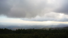 Clouds over Algarve mountains, south Portugal horizon view Stock Footage