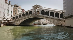 Italian famous bridge in venice Stock Footage