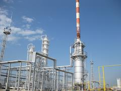 The oil refinery - stock photo