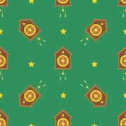 Christmas winter seamless pattern. - stock illustration