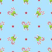 Christmas winter seamless pattern. - stock illustration