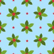 Christmas winter seamless pattern. Stock Illustration