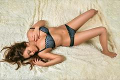 Woman in lingerie Stock Photos
