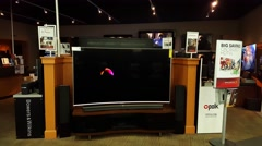 Samsung UHD TV at Best Buy store in Mountain View, CA - stock footage