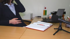 Interview of a business Woman, press media Stock Footage