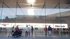 Apple store in Palo Alto, CA - stock footage
