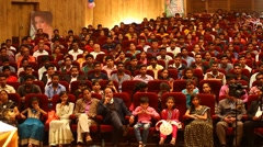 Indian People at Auditorium Stock Footage