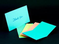 Message Card for Your Family and Friends; Thank You Stock Photos