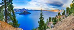 Crater lake view Stock Photos