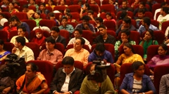 Indian People in the Auditorium - stock footage