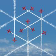 Geometric Cube Concept Stock Illustration