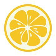 Yellow lemon grapefruit stylish  icon. Juicy fruit logo Stock Illustration