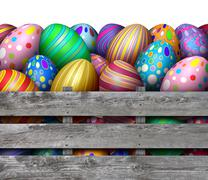 Easter Egg Hunt Harvest Stock Illustration