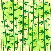 bamboo green vector illustration - stock illustration