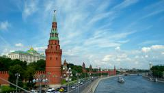 Moscow Kremlin and Moscow River, Russia Stock Footage