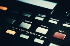 Rec And Play Buttons on Midi Controller Stock Photos