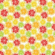 Seamless pattern with lime, orange and grapefruit Stock Illustration