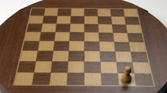Stop Motion Chess Board Setup On Old Magnetic Board Stock Footage