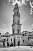 Tower of Lecce Cathedral, iconic landmark in Salento, Italy - stock photo