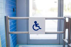 User input for wheelchair users. Stock Photos