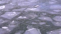 Ice blocks on the lake Stock Footage