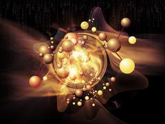 Acceleration of Particles Stock Illustration