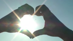 Heart Symbol with Hands - stock footage