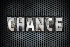 Chance Concept Metal Letterpress Type - stock illustration