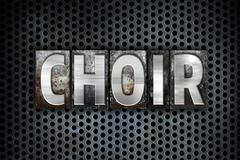 Choir Concept Metal Letterpress Type - stock illustration