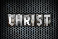 Christ Concept Metal Letterpress Type - stock illustration