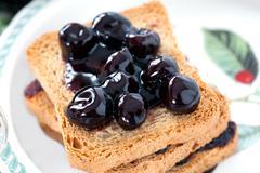Sour Cherries Jam - stock photo
