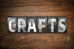 Crafts Concept Metal Letterpress Type - stock illustration