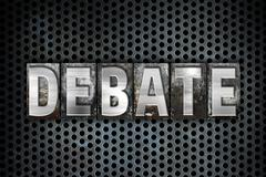 Debate Concept Metal Letterpress Type - stock illustration
