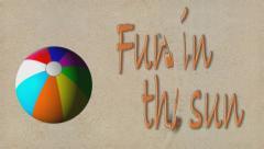 Fun in the Sun beachball Stock Footage