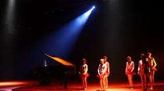 Female Dancer in the studio Stock Footage