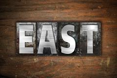 East Concept Metal Letterpress Type - stock illustration