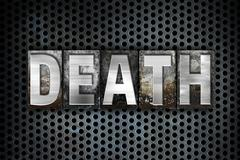 Death Concept Metal Letterpress Type Stock Illustration