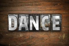 Dance Concept Metal Letterpress Type - stock illustration
