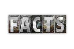 Facts Concept Isolated Metal Letterpress Type - stock illustration