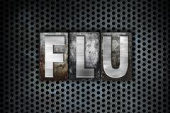 Flu Concept Metal Letterpress Type - stock illustration