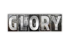 Glory Concept Isolated Metal Letterpress Type - stock illustration